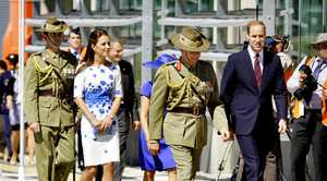 The Duke and Duchess of Cambridge at RAAF Base Amberley.