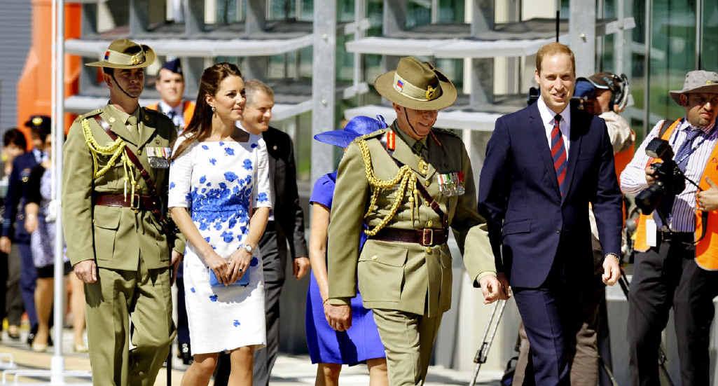 The Duke and Duchess of Cambridge at RAAF Base Amberley.