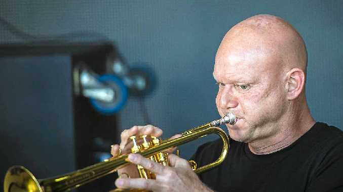 Ralph Pyl performs during a sound check prior to the Gladstone Festival and Events Jazz 'n' Shiraz at the Gladstone Marina on Sunday night.