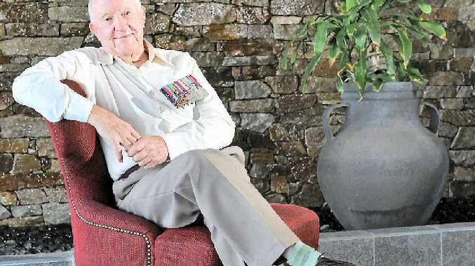 Second World War veteran Col Connors will march for his mates on Anzac Day.