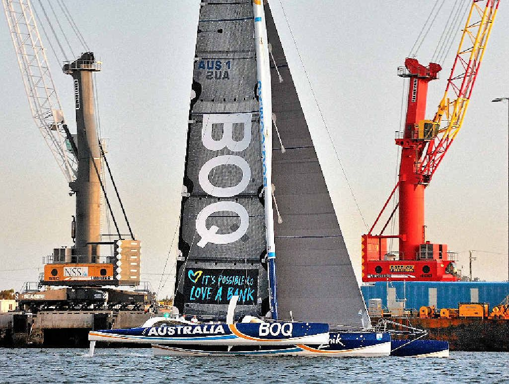 Brisbane to Gladstone yacht race's multihull line honours winner BOQ.
