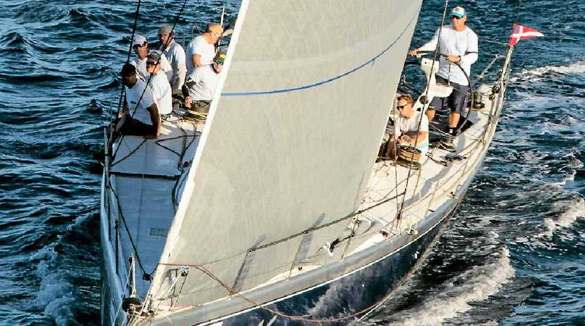 Alive, number 66, won The Courier-Mail Cup in the 66th Brisbane to Gladstone yacht race.