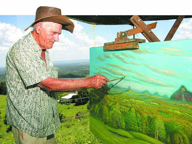 FOND MEMORIES: Artist Charlie Ragazzi has died leaving a legacy of wonderful paintings featuring hinterland scenery.
