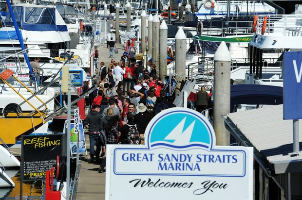 The Great Sandy Straits Marina welcomes the returning migration of tourists to our region. Photo: Valerie Horton / Fraser Coast Chronicle