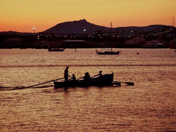 Sunset over the Gladstone Marina.
