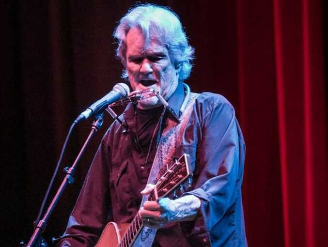 Singer, songwriter and actor Kris Kristofferson, 77, with only his voice and an acoustic guitar, brought the Brolga Theatre to life.
