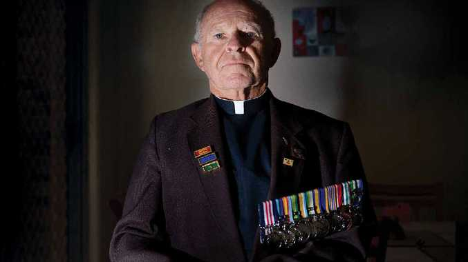 MILITARY MEDAL: Reverend Richard Brown completed two tours of Vietnam and became an Army chaplain.