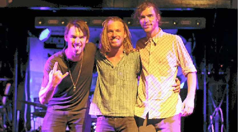 WINNERS: Eddie Boyd and the Phatapillars; Eddie Boyd, Sandy Clarke, Andy Nielsen.