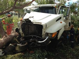 Driver has suspected spinal injuries following Nebo crash