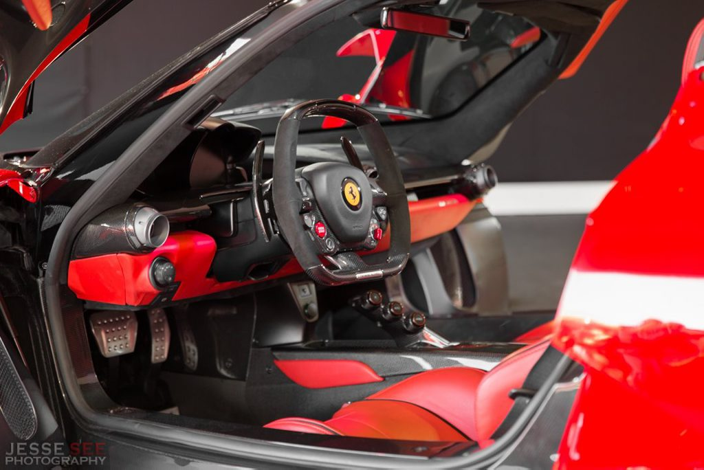 Inside LaFerrari.
