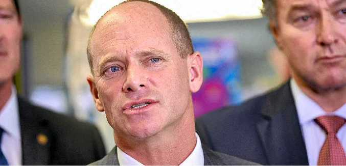 SUPPORT: Queensland Premier Campbell Newman has referred Scott Elms to the Police Commissioner for investigation.