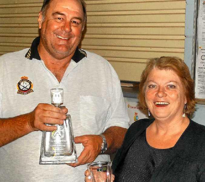 CQ championships winner Charles Arrowsmith, with Gladstone MP Liz Cunningham.