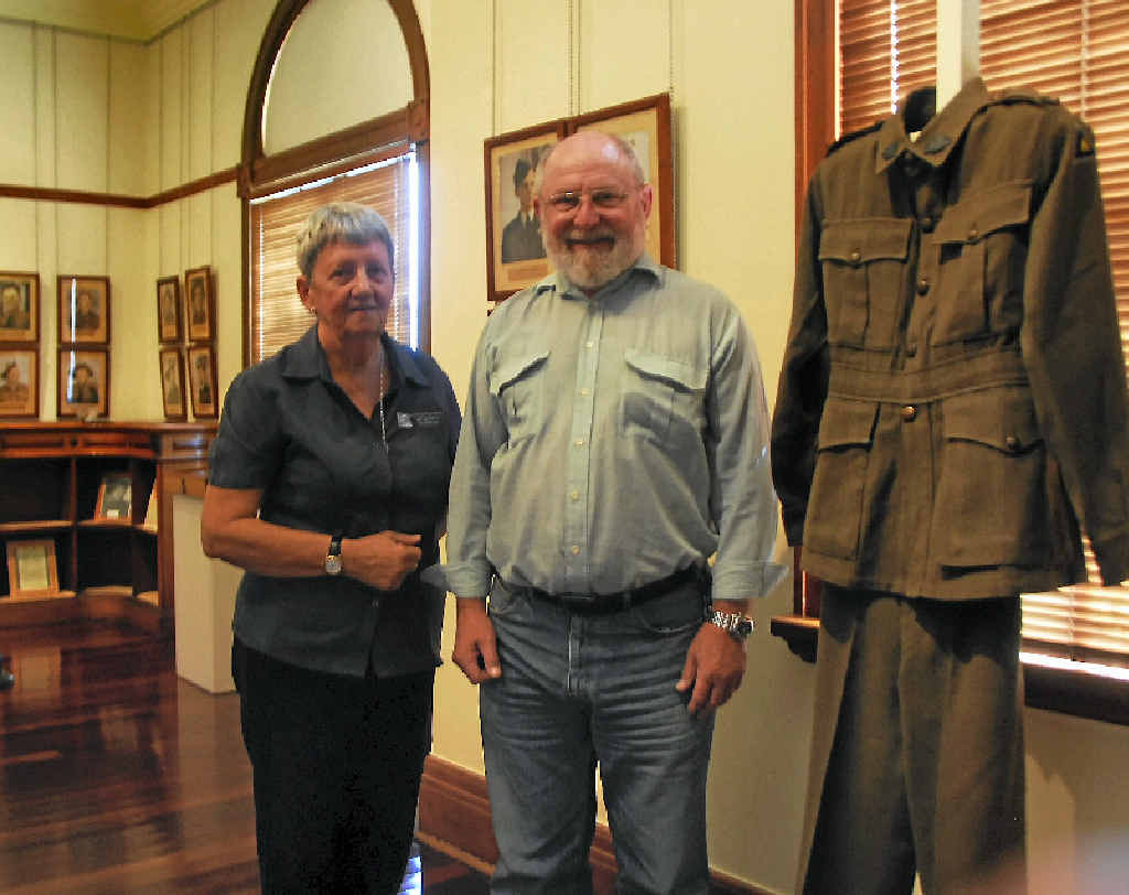 Lyn Lee and Wes Walker at the Lest We Forget exhibition.