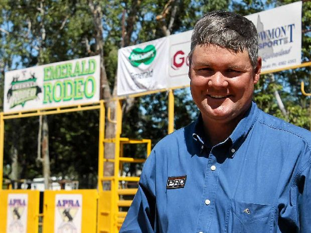 DUST FLIES: Emerald Rodeo Association president Shane Kenny says the town's arena is highly competitive.