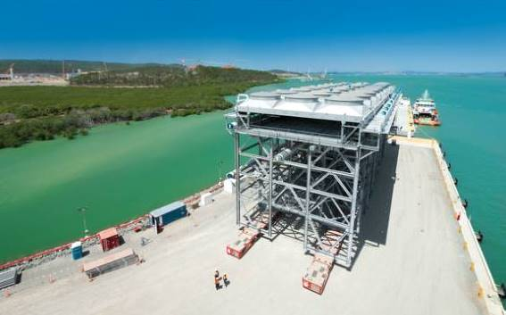 One of the biggest modules to be used during the construction of three LNG projects on Curtis Island arrived this week.