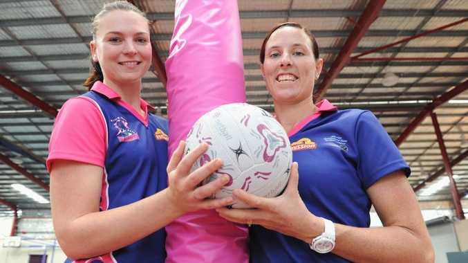 Netball - Thundercats players (L) Bianca Coleborn and Katrina Tate.