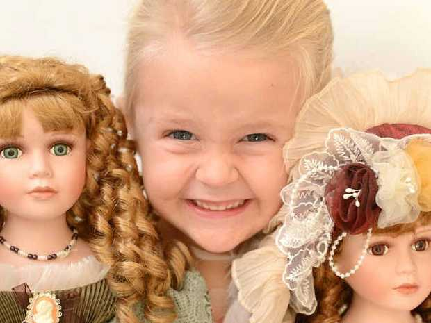 SO CUTE: Sienna Boyle, 4, is looking forward to it all.