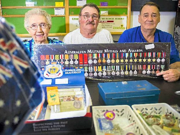 Doreen Jolley, Greg Hopton and Jeffrey Tickner are expecting record crowds at this year's Anzac Day events.