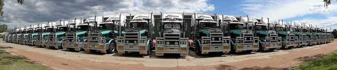 Frasers line-up at the Warwick depot provides a photo opportunity.
