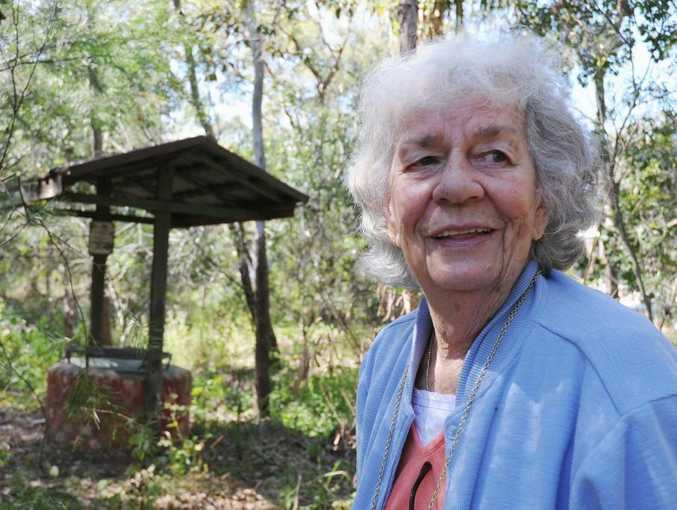 Hervey Bay's Ronda Cook, at the old wishing well at Parraweena in Point Vernon, will be remembered fondly for caring nature and feisty attitude.