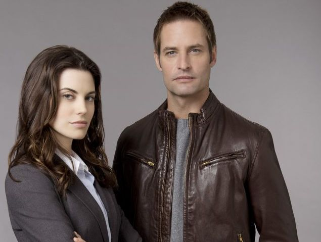 Josh Holloway stars as operative Gabriel Vaughn and Meghan Ory plays Secret Service agent Riley Neal in Seven's new Intelligence.