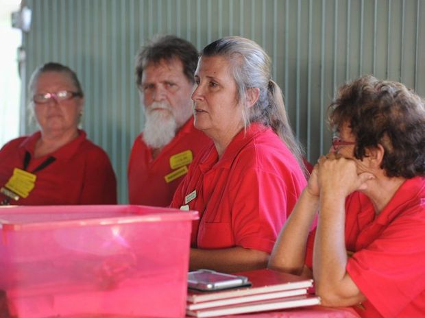 Hervey Bay Animal Refuge managing director Maree Hill addresses a special meeting.