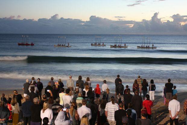 ANZAC Day Mooloolaba dawn service. Photo Kristy Muir / Sunshine Coast Daily