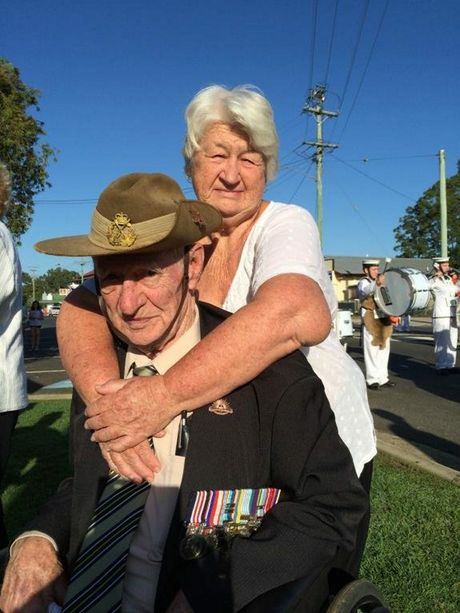 Veteran Ken Crockford, pictured with Lesley, served in both the airforce and the army. Photo Robyne Cuerel / Fraser Coast Chronicle