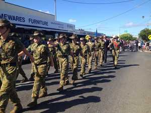 People line the streets for Hervey Bay Anzac Day parade