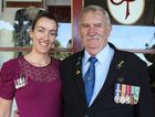 Vietnam veteran John Perrett and his daughter Joanne in Ulmarra on Anzac Day. Photo Clair Morton / Daily Examiner