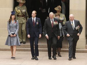 Royals attend War Memorial Dawn Service in Canberra