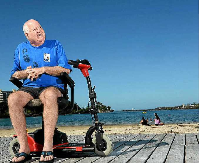 POSITIVE: Kevin Gleeson has motor neurone disease. He communicates with the help of a tablet but says he's one of the lucky ones.