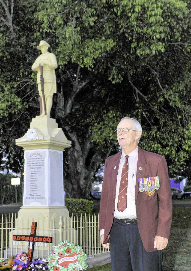 The Miriam Vale dawn service was well attended.