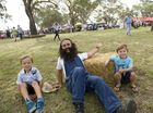 Costa Georgiadis from ABC TV's Gardening Australia with Brock (left) and Zach Winter.