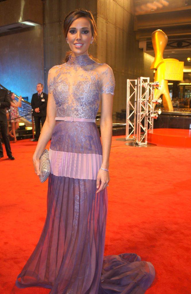 Rebecca Judd on the 2014 Logies red carpet.