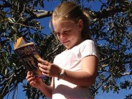 STORY: Amelia Webster, eight, took her love of reading to new heights.