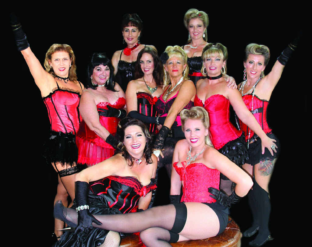 VA VA VOOM: The Jordalicious Jewels from D'Vine Burlesque Club are primed to shimmy and shake their assets for a good cause.
