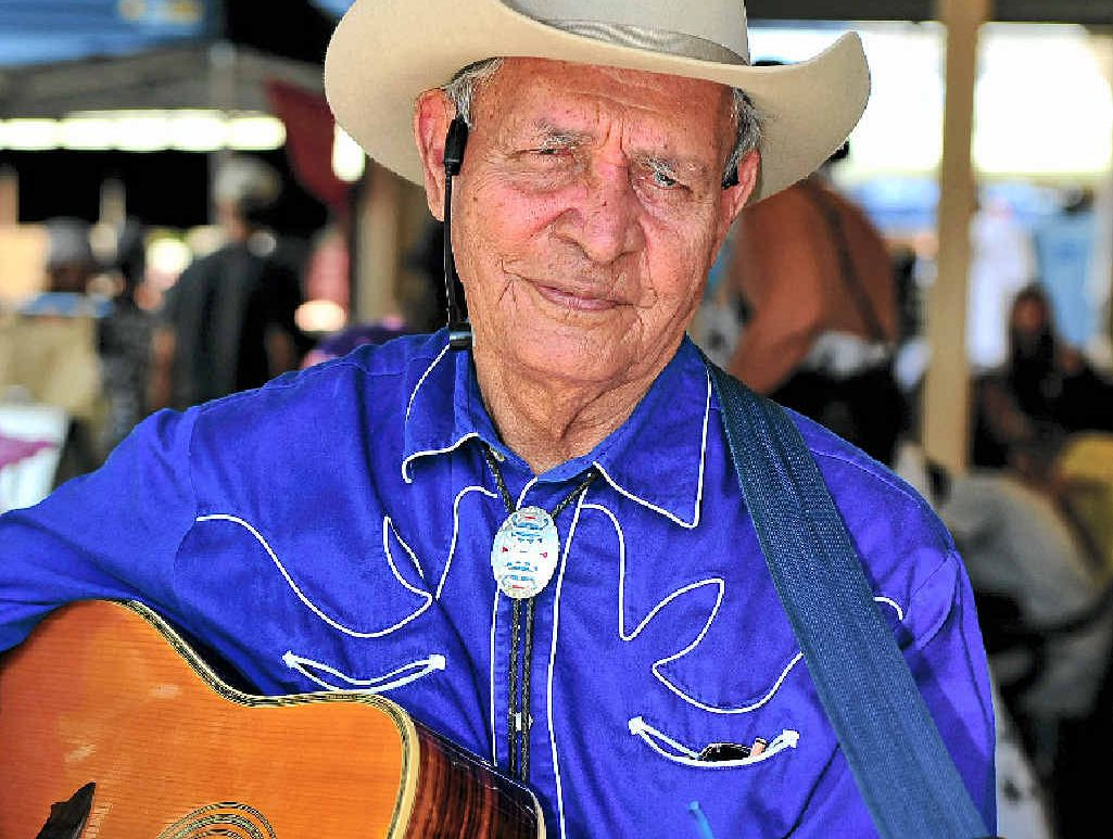 FAREWELL: Jimmy Howard has retired from singing at the Eumundi Markets.