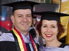 GRADUATION DAY: Matthew Steel and partner Toni Christensen both graduated together at the USQ Faculty of Education graduation ceremony at the weekend.