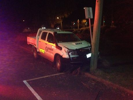 A 20-year-old Upper Lockyer man has been charged with driving under the influence of liquor after colliding with a pole on Burstow St, near the intersection of Herries St.