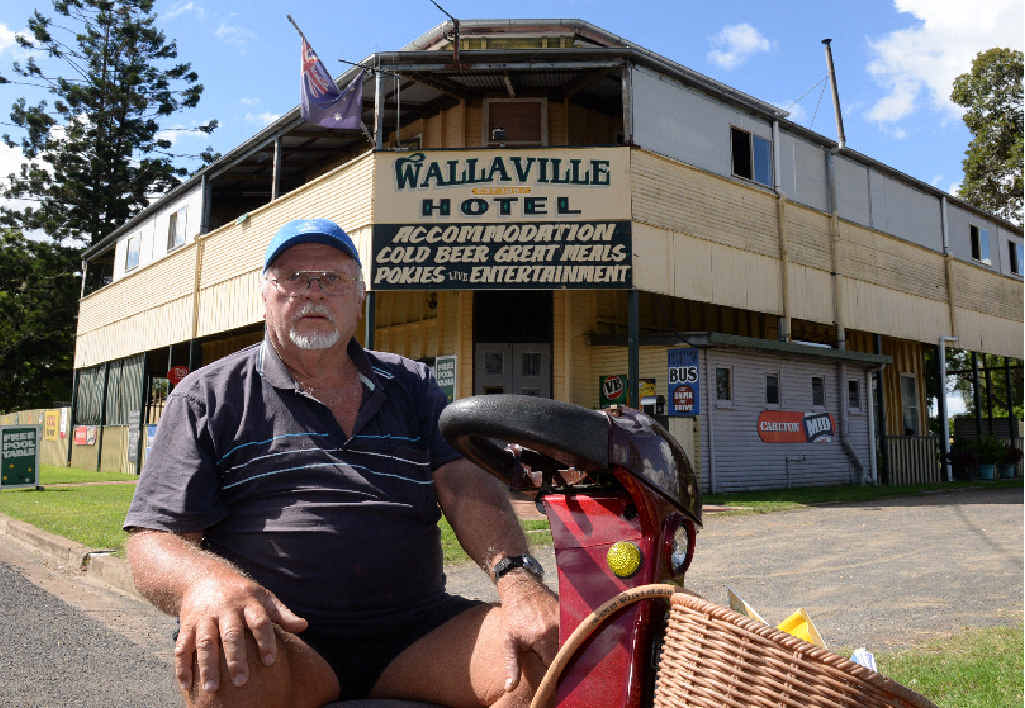 WORRIED FOR CUSTOMERS: Wallaville Hotel owner Bob Mackay is concerned about potential asbestos in the dusty field opposite the hotel.