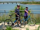 Cyclists Duncan Treloar and Sara Kupfer make the most of Mackay's Bluewater Trail.