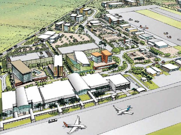 An artist's impression of a redeveloped Mackay Airport after a proposed $900 million expansion project.