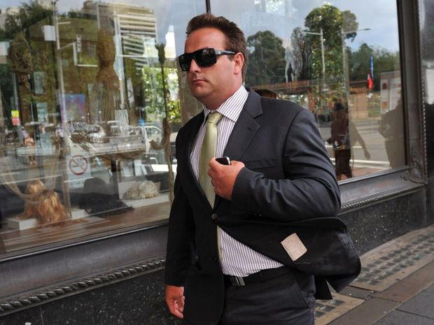 Former NRL Bulldogs forward Ryan Tandy (centre) leaves the Downing Centre District Court in Sydney. The former NRL forward Ryan Tandy has reportedly been found dead from a drug overdose.