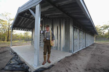 Ken Higgins at the shed built for Vietnam Veterans at Toogoom.