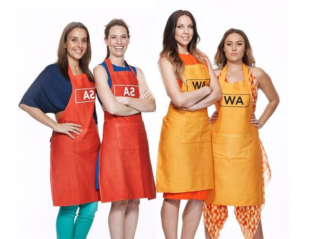 Jessica and Bree, left, will cook against Chloe and Kelly in tonight's MKR grand final.