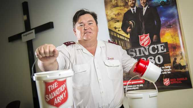 Captain Jeff Bush is calling upon the generosity of the Gladstone community to assist during the Red Shield Appeal Doorknock Weekend.