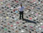 POWERFUL: It's the human cost of road trauma, about 1400 empty pairs of shoes symbolising the average number of Australian motorists who never come home each year.
