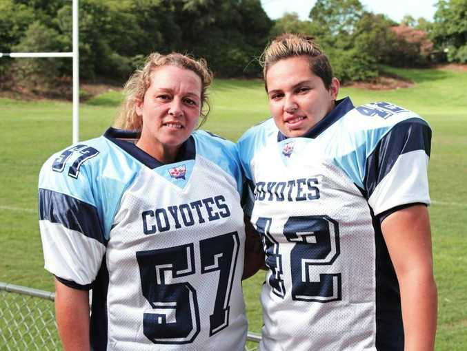 Mother and daughter combination, Tammy (left) and Candice Clay, have achieved plenty in women's gridiron.