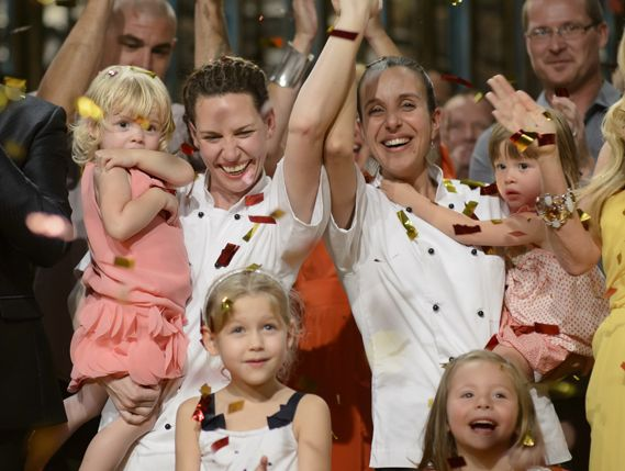 Mums Bree May and Jessica Liebich are crowned the 2014 My Kitchen Rules winners.